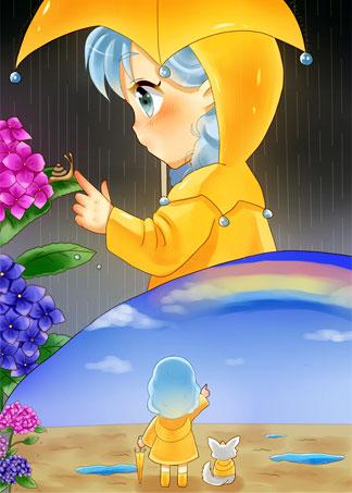かたぁつむいさんと雨上がり