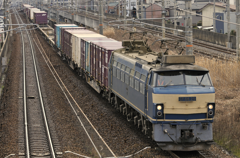 2月3日の2071レ EF66-29号機