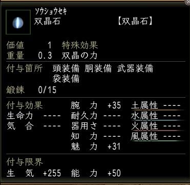 双晶石鍛錬0