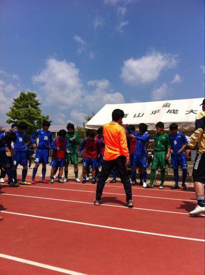 2011年度 中国L 第2節 vs福山平成大学(2011:4:29 fri)[円陣]