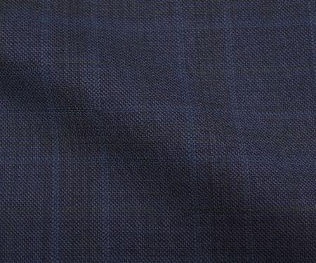 (スキャバル)のオーダースーツ生地GALAXY(ギャラクシー)・ブルーのチェック