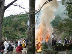ふる里かわら梅まつり~神宮院の護摩焚き