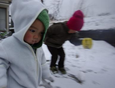 泥んこ雪あそび1