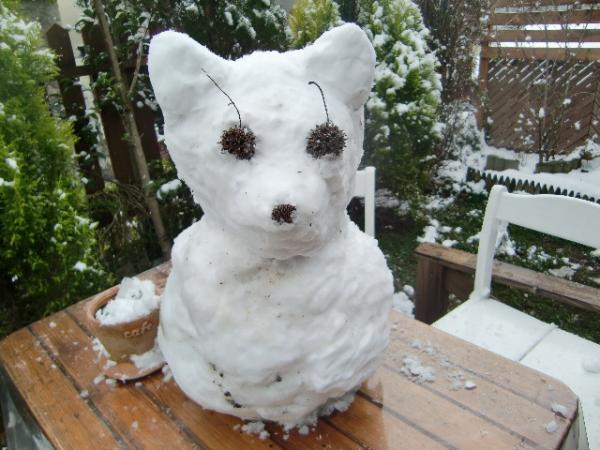 ラテチ雪だるま