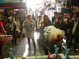弘明寺の獅子舞です2