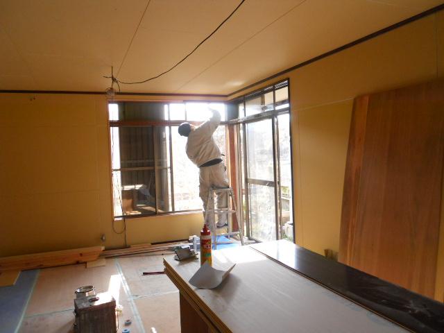 内部枠塗装工事