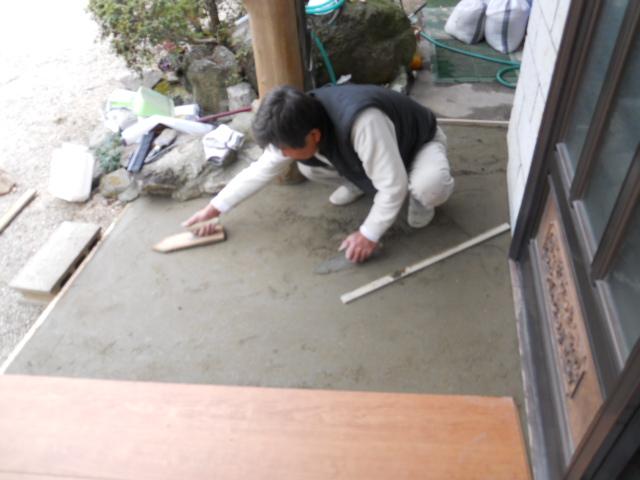 玄関 土間タイル貼替工事