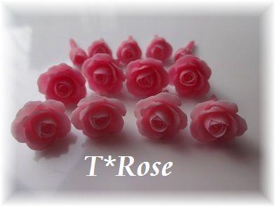 樹脂粘土薔薇