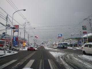 雪道の通勤1