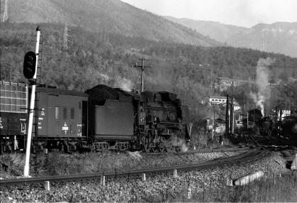変換 ~ 中央西線1971.11.21落合川