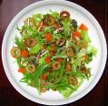 竹輪と水菜のサラダ