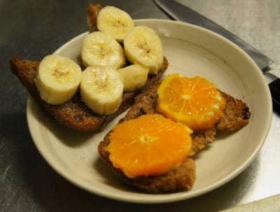 バナナ&オレンジの準備