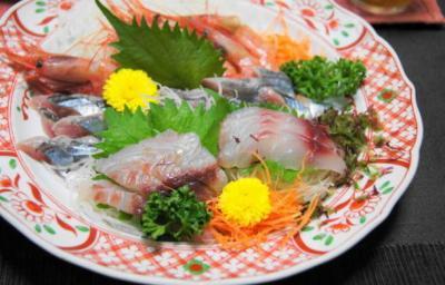 甘エビ・秋刀魚・イサキの刺身