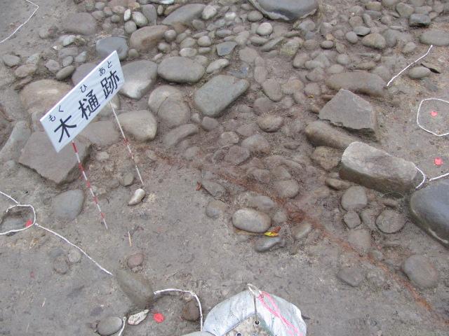 仙台城酒造屋敷地区発掘の様子1
