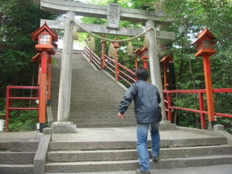 貴船神社の石段前