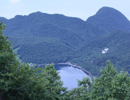 登山中の一景