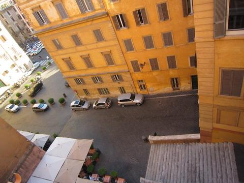 ローマのホテルからの眺め