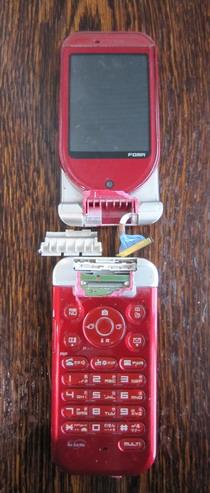 こわれた携帯電話