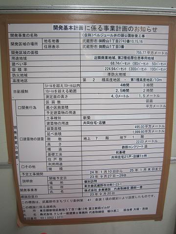 井の頭観光ホテル跡掲示板