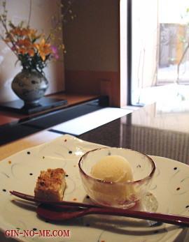 ランチのデザート 梅の花
