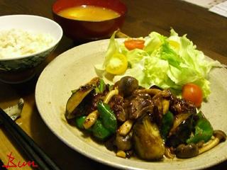 Aug26_豚肉と夏野菜の味噌炒め