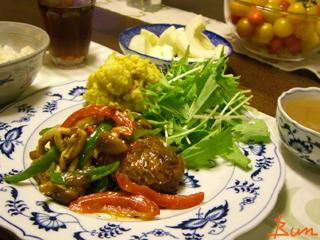 Sep03_あんかけ野菜のせハンバーグ