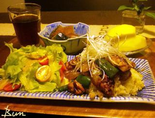 Sep15_鶏肉の辛味噌のせご飯