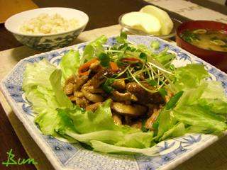 Sep25_豚肉と野菜の焼き肉風味炒め