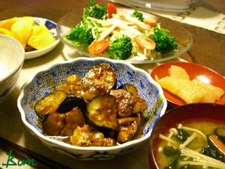 Nov03_鶏肉と茄子の味噌炒め