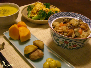 Nov10_ナラブサと鶏の炊込みご飯