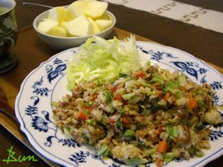 Nov30_小魚と桜海老の炒飯