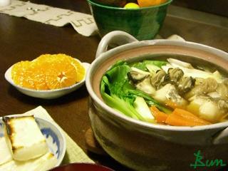 Jan14_鱈と牡蠣の鍋