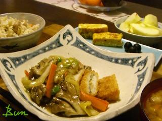 Jan26_野菜あんかけ魚のフライ