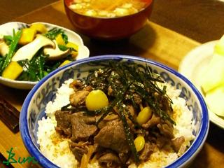 Jan20_牛肉の佃煮丼