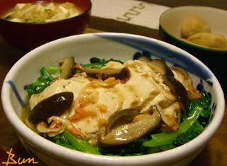 Mar02_鶏と小松菜のとろみ丼