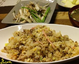 Mar04_飯醤油風味の挽肉炒