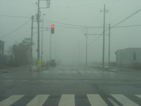 霧の交差点(2009.12.01)