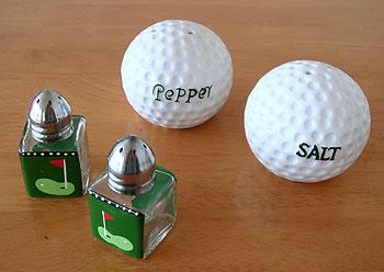 ゴルフ 塩・胡椒入れ