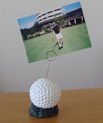 ゴルフボール型フォトホルダー