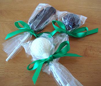 キャディバッグ&ボール チョコレート