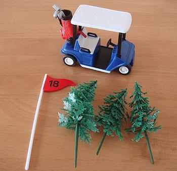 ゴルフカート型 ケーキの飾り!