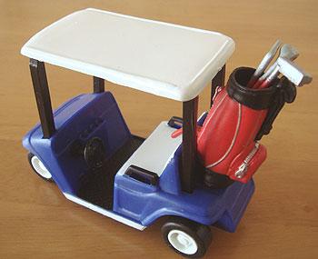 よくできたゴルフカートのミニチュアです!