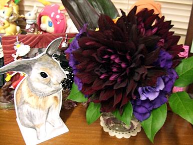 砂糖胡麻と装花のなごり