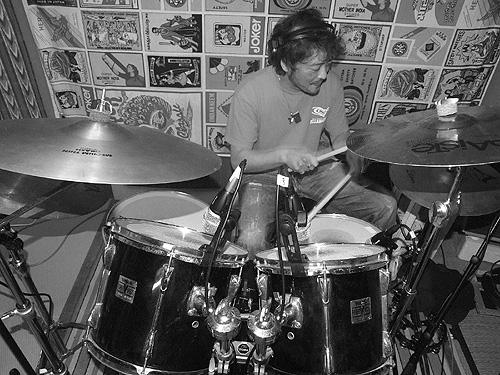 ドラムの録音