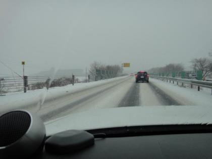 山梨で大雪