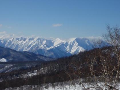 リフトから見える遠くの山並み
