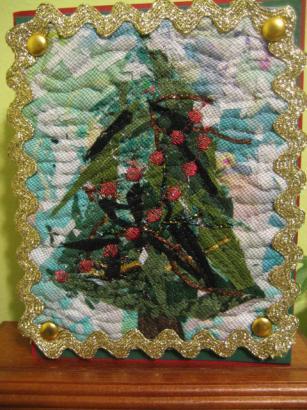 キルトのクリスマスカード