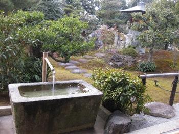 妙心寺 隣華院手水鉢