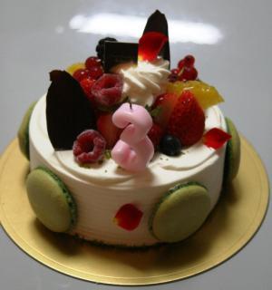 急きょ用意したケーキ^^; 20100301