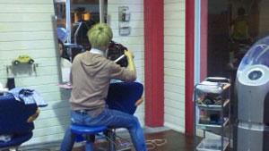 春のヘアスタイル特集撮影風景 at Hair Factory Zero
